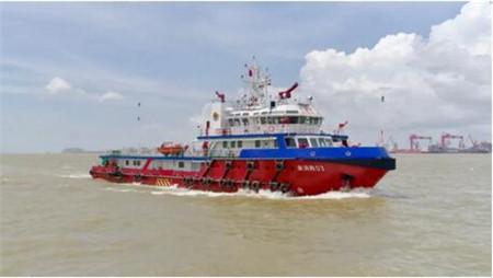 粤新海工54.8米全电力推进系统消防船顺利试航