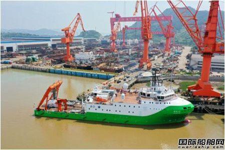 """我国载人潜水器支持保障母船""""探索二号""""在马尾造船启航"""