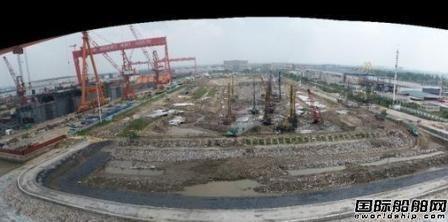 招商工业海门基地邮轮建造专用坞工程全力推进