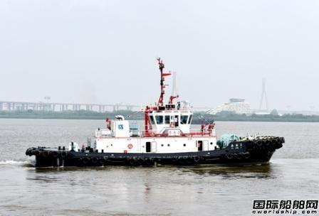 国内首艘主机气体排放满足CⅠ、Ⅱ标准全回转拖船出厂