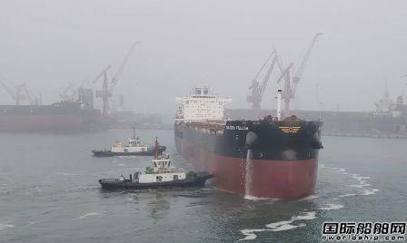 山船重工82000吨系列散货船一个月内完成多个重大节点