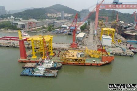 厦船重工承接海上风电项目首批产品成功交付