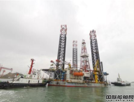 威海金陵首次承修中海油服渤海12号完工离厂