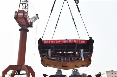 镇江船厂2942kW消拖两用全回转船顺利搭载