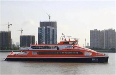 """英辉南方设计建造""""鹏星25""""高速客船顺利试航"""