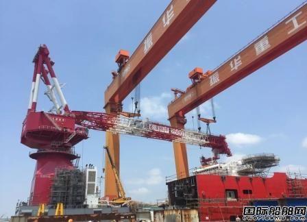龙源振华2500吨起重机臂架顺利完成总装