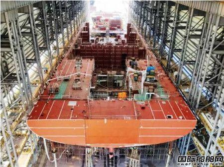 国内最大室内船台在黄埔文冲完工投产