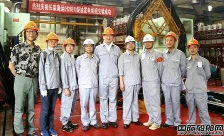 安柴交付长荣海运第二批3台套6DK-26柴油发电机组