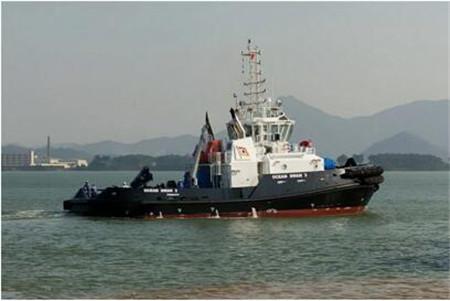 显利造船交付印度船东一艘32米拖轮