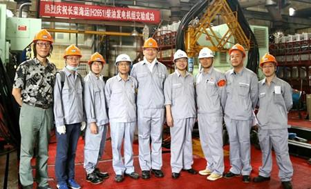 安柴3台套6DK-26柴油发电机组通过对外交验