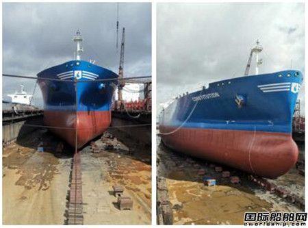 广东中远海运重工突击完成首艘混合式脱硫改装