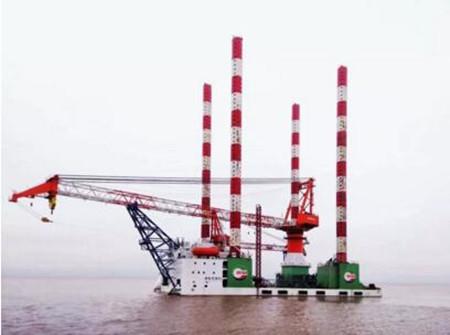 马尾造船交付600吨自升式海上风电大部件更换运维平台