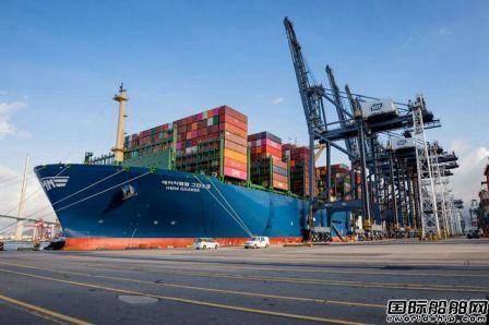 """全球最大集装箱船""""HMM GDANSK""""轮首航靠泊香港"""