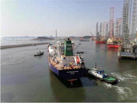 大船集团第二艘85000立方米VLEC试航凯旋