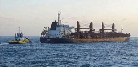 """太古轮船旗下散货船在新西兰海域""""抛锚"""""""
