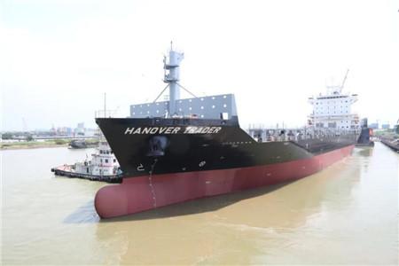 广东中远海运重工完成1750TEU集装箱船系列8号船试航