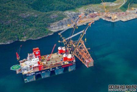 8100吨!全球最大半潜式起重船再创新纪录