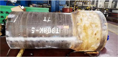 大柴公司顺利完成30万吨原油船轴系艉管前铸件加工
