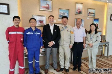 法国船级社中国区新总裁葛思越一行拜访外高桥造船