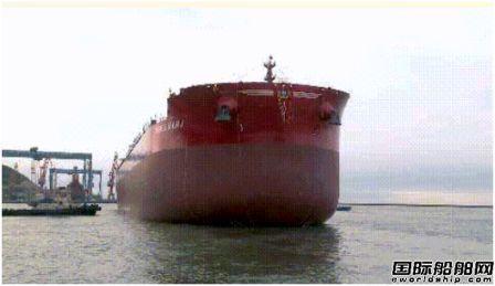 渤船重工建造21万吨散货船22#船顺利下水