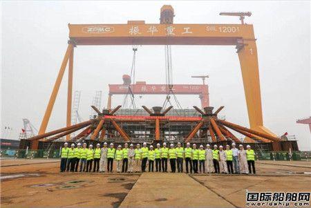 振华重工建造国内首个海上换流站实现上部结构外场搭载