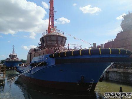 华南造船厂2艘5000HP全回转拖轮下水