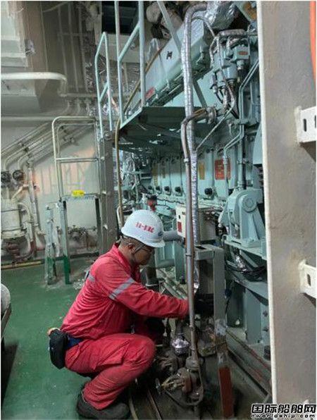 外高桥造船18万吨散货船H1495完成船坞内主发电机动车试验