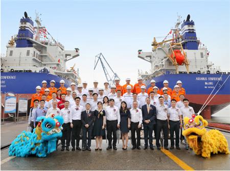 双喜临门!新大洋造船同日交付两艘皇冠63K散货船