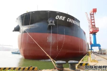 北船重工32.5万吨系列矿砂船4号船试航凯旋