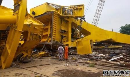 11人死亡!印度船厂巨型起重机突然倒塌
