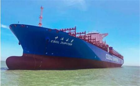 舟山中远海运重工完成中远海运集运三艘14000箱船脱硫装置改装