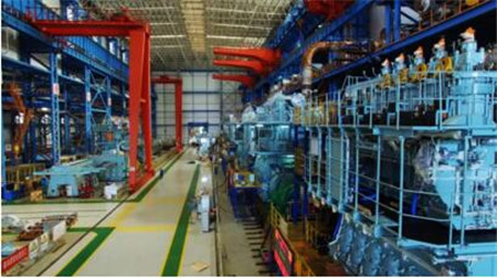 中国船柴青岛总装厂7月份完成6台主机