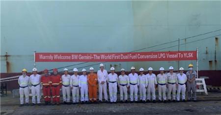 招商局重工深圳迎来全球首例LPG双燃料改造项目