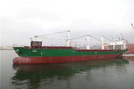 """大连中远海运重工复工首艘修理船舶""""吉米""""轮开航"""