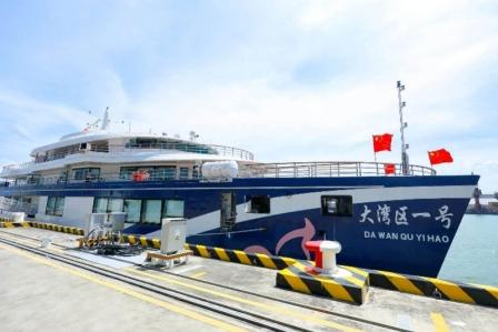 """中国首艘油电混合""""大湾区一号""""9月1日正式运营"""
