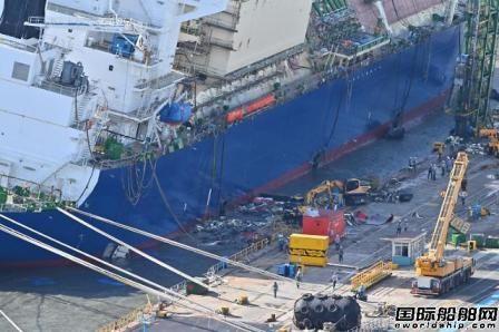 惨遭打脸!现代重工在建VLEC遭台风重创