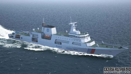 黄埔文冲在建大型海巡船攻克轴舵系安装