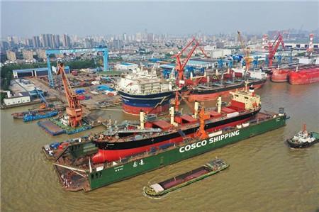 """南通中远海运船务完成""""天堂""""轮水泥自卸船改装工程"""