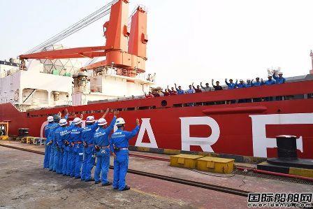 """江南造船完成""""雪龙""""号86天保修开始试航"""