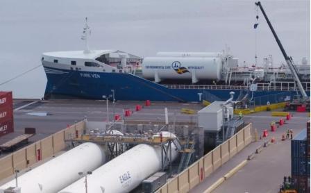 Eagle号首次完成第一艘外国船只LNG加注任务