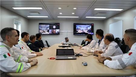 上海中远海运重工MV34 FPSO项目实现First luncheon重大节点