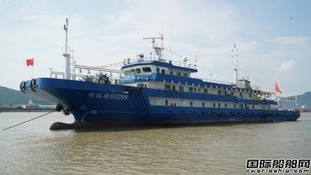 东红船业建造国内最大钓鱼船试航成功
