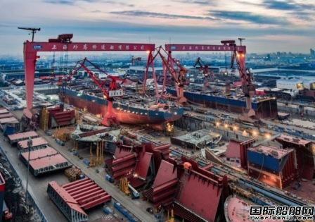 全国第一!外高桥造船前8月完工量355万载重吨