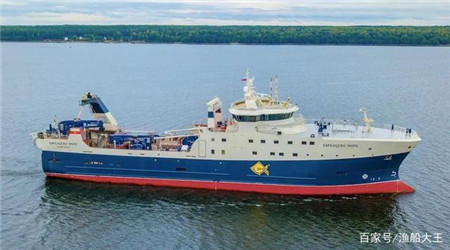 俄罗斯船厂交付俄罗斯首艘新一代底拖网渔船
