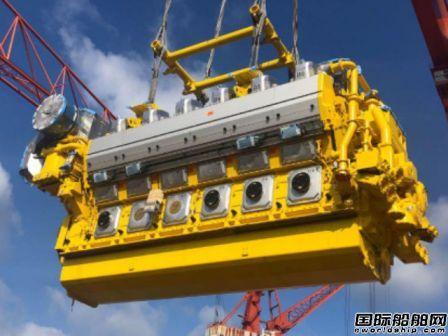 威海金陵完成全球首制12V46DF双燃料主机吊装