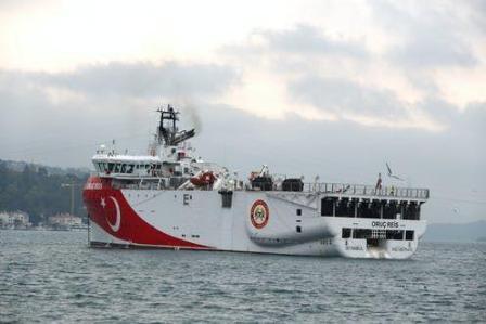 """土耳其勘探船回港希腊称其为""""积极信号"""""""