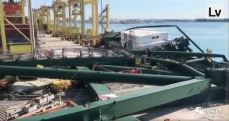 突发!MSC旗下全球最大集装箱船撞倒码头岸吊