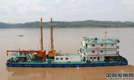 中江船业交付一艘非自航式钻爆船