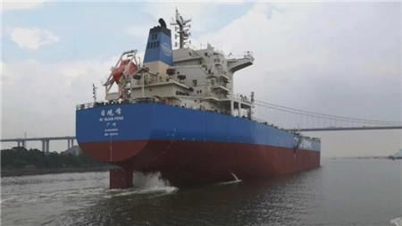 """广东中远海运重工紧急完成""""日观峰""""轮坞外轴系出舱修理"""