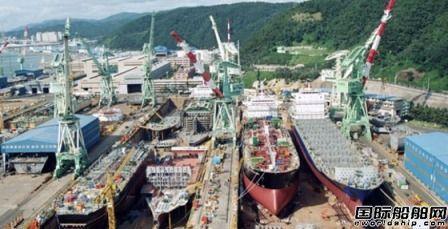 现代尾浦造船前8月接单金额同比增长超两成